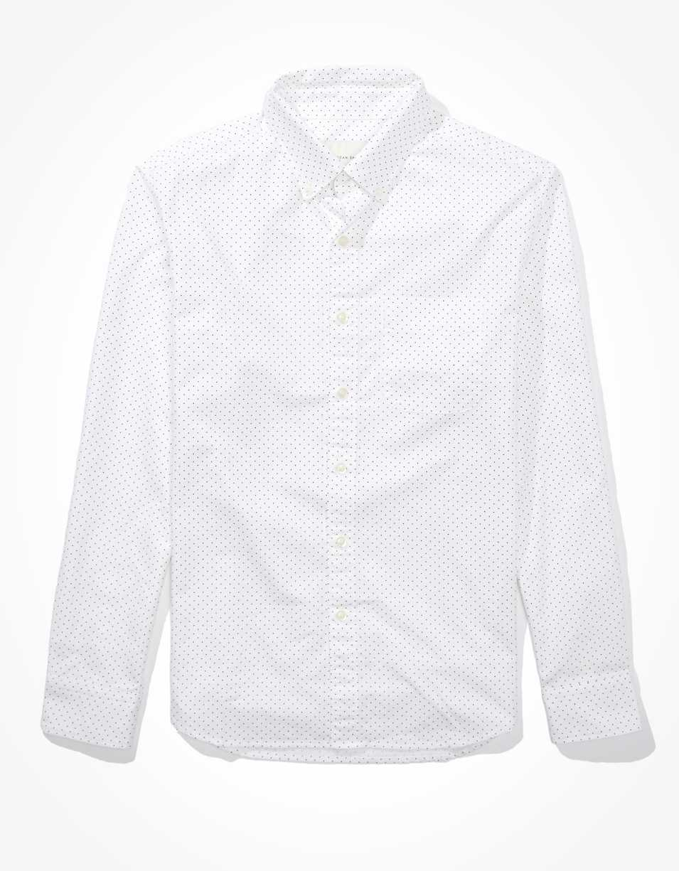 AE Printed Oxford Button Up Shirt