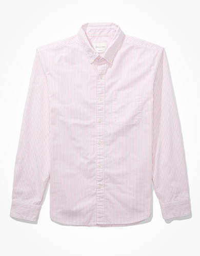 AE Striped Oxford Button-Up Shirt