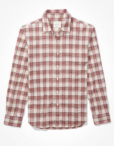 AE Plaid Everyday Shirt