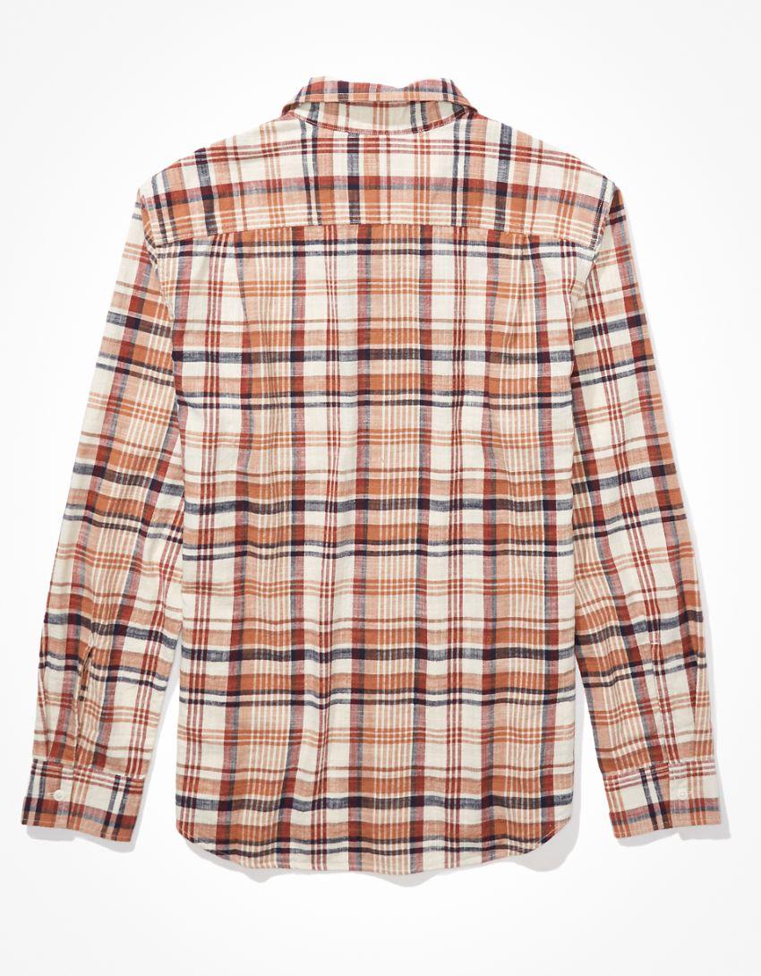 AE Plaid Super Soft Everyday Shirt