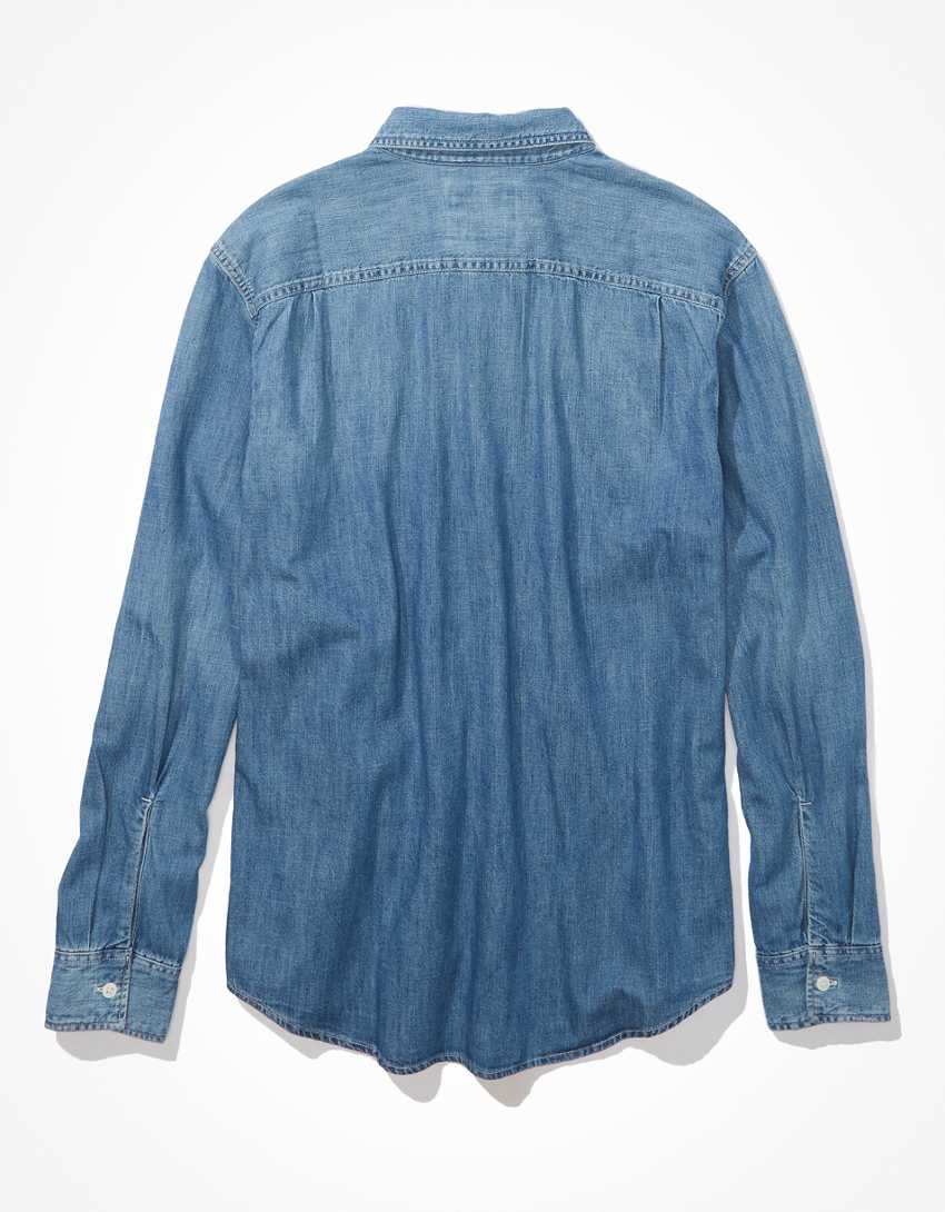 AE Denim Button-Up Shirt