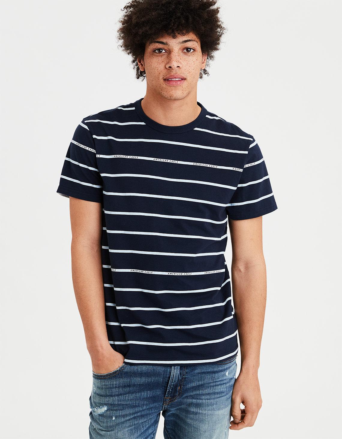 5e3870f53e1c0f AE Striped T-Shirt
