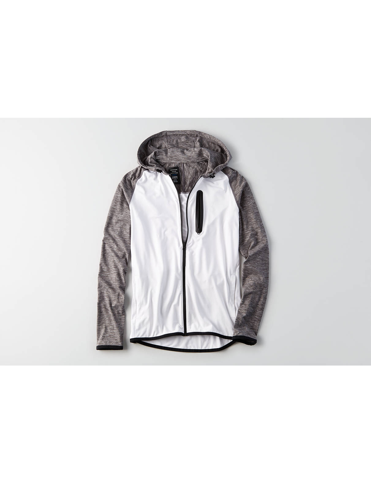 Display product reviews for AEO Flex Colorblock Zip-Up Hoodie