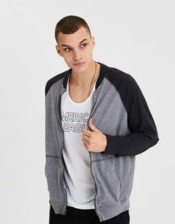 Ae Zip Up Bomber by American Eagle Outfitters