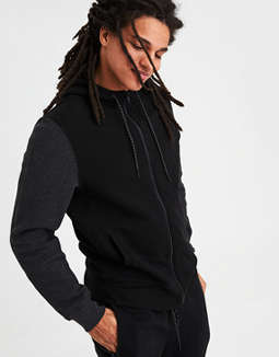 Ae Ribbed Zip Up Hoodie by American Eagle Outfitters