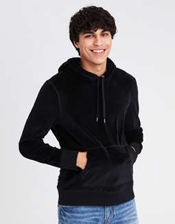 Ae Velour Pullover Hoodie by American Eagle Outfitters