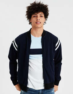 Ae Tipped Bomber Jacket by American Eagle Outfitters