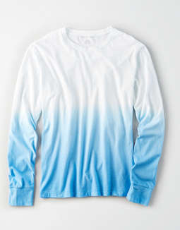 AE Long Sleeve Dip Dye T-Shirt