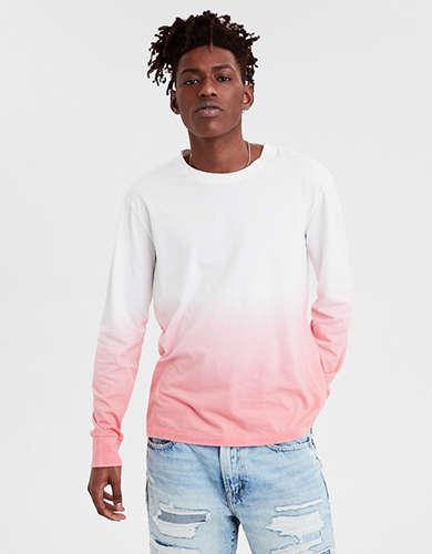 555a92aee172f AE Long Sleeve Dip Dye T-Shirt