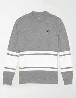 AE Long Sleeve Color Block T-Shirt