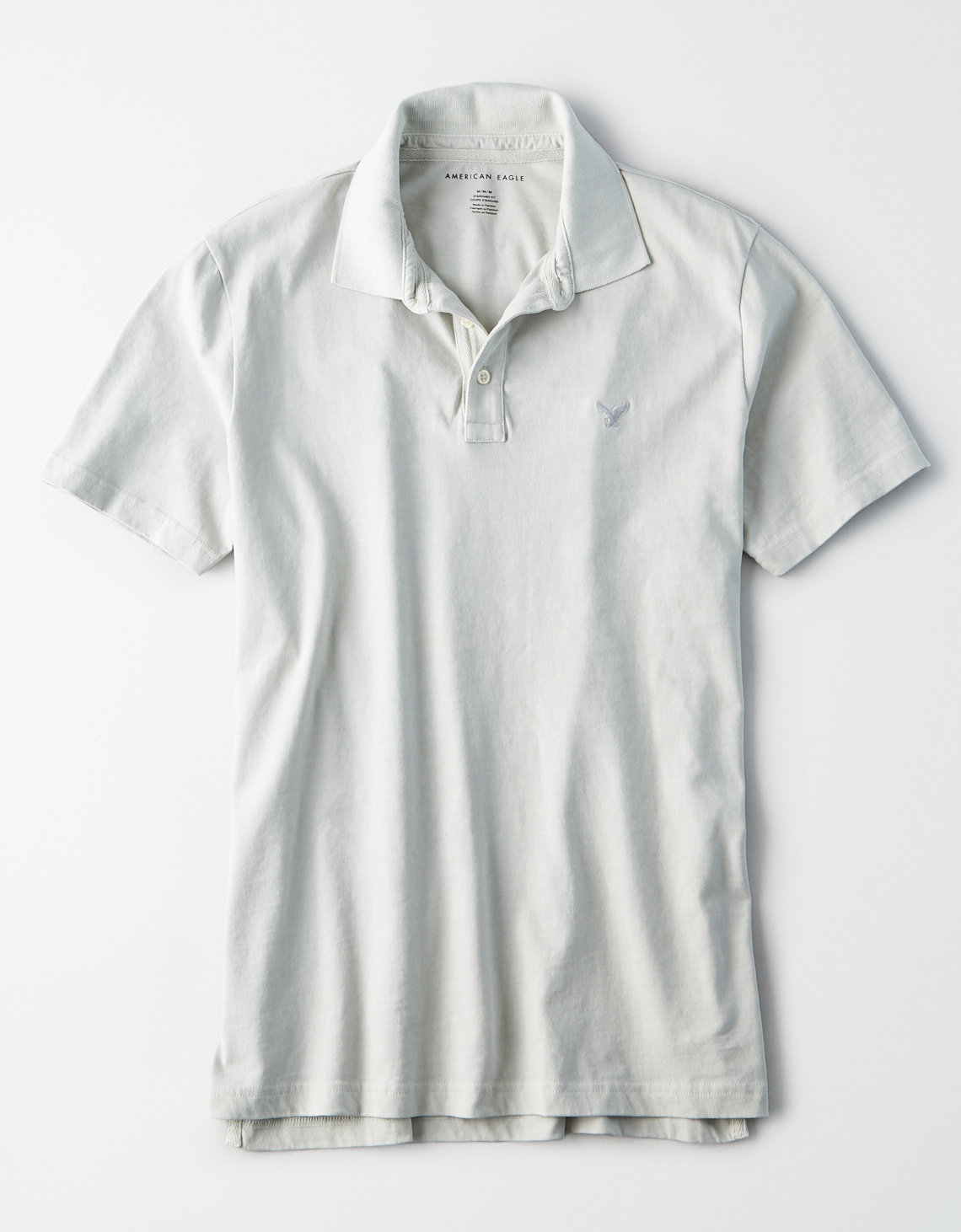 b1a6d6d9672ba AE Logo Jersey Polo, Light Faded | American Eagle Outfitters