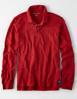 AE Long Sleeve Slub Jersey Polo