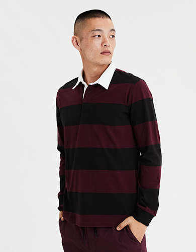 AE Long Sleeve Rugby Polo Shirt