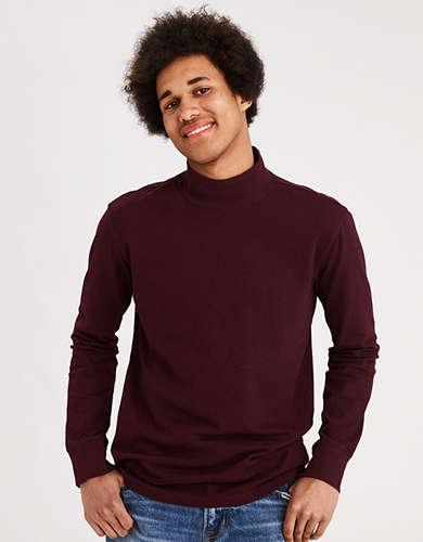 AE Long Sleeve Mock Neck T-Shirt