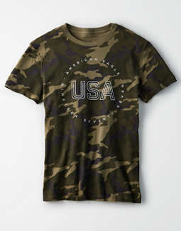 AE Short Sleeve Camo Graphic T-Shirt