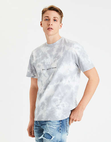 AE Vintage Wash Tie-Dye Graphic T-Shirt
