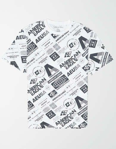 AE Short Sleeve All-Over Graphic T-Shirt