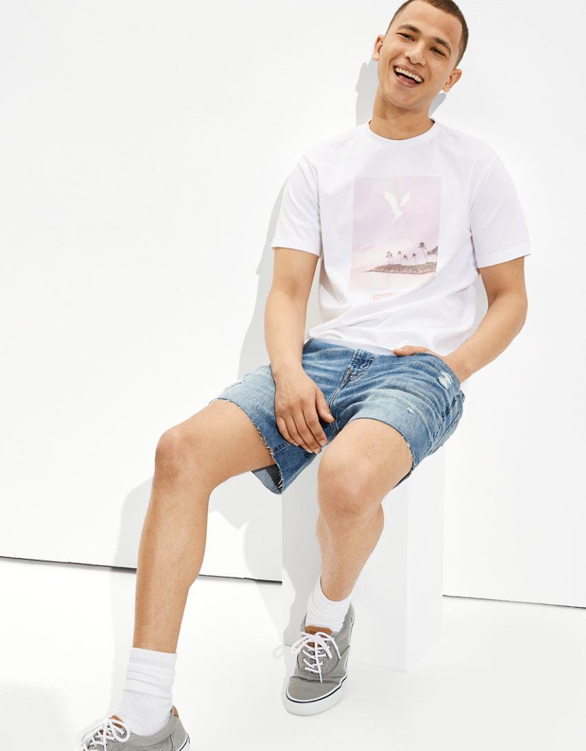 AE Super Soft Summer Eagle Graphic T-Shirt