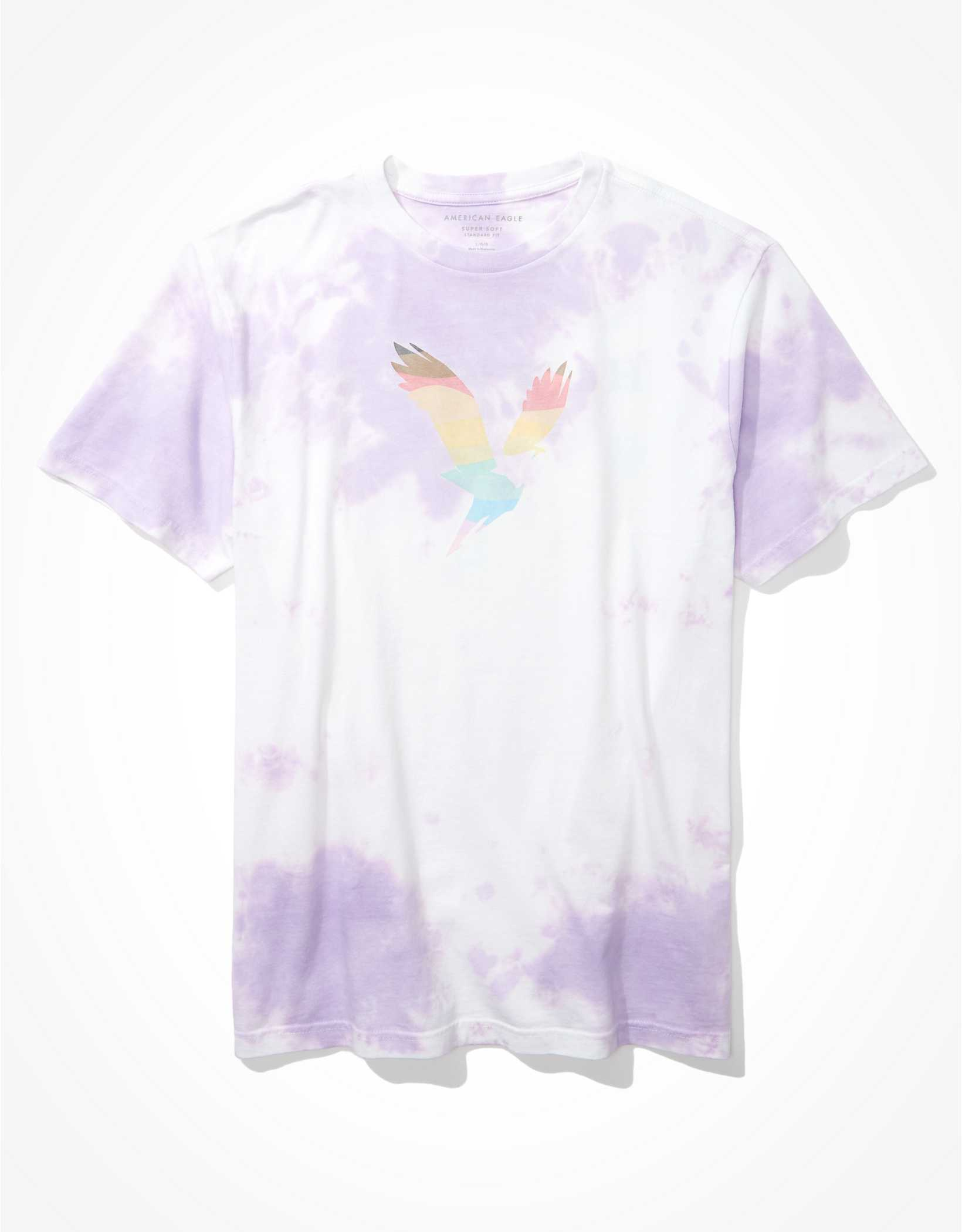 AE Tie-Dye Pride Graphic T-Shirt