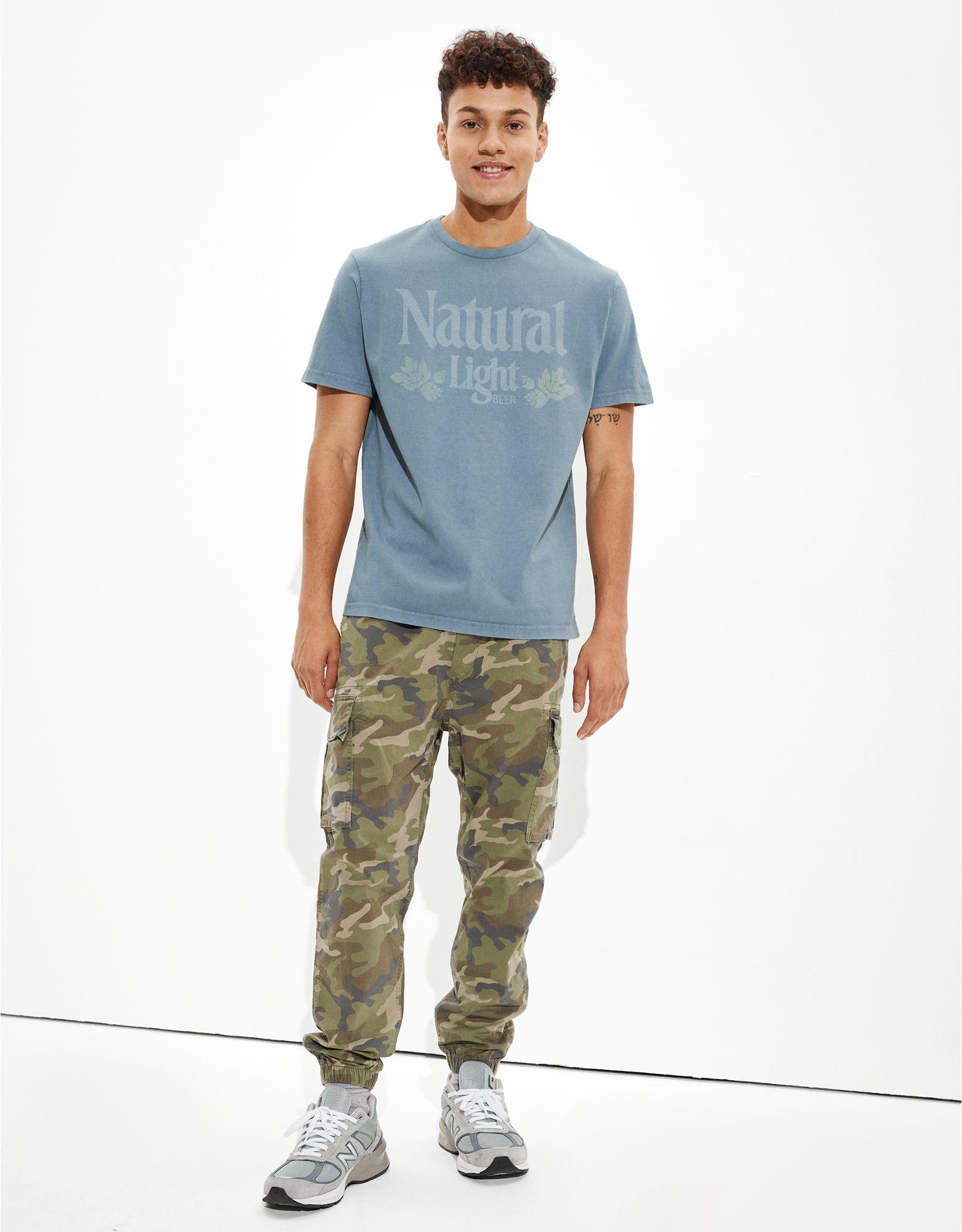 Tailgate Men's Natural Light Beer Graphic T-Shirt