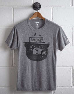 Tailgate Men's Smokey The Bear Graphic Tee