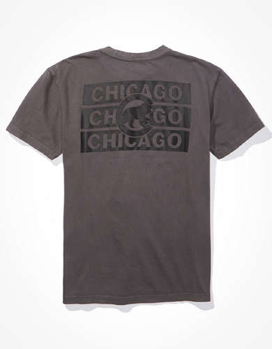 Tailgate Men's Chicago Cubs Dye Effect T-Shirt