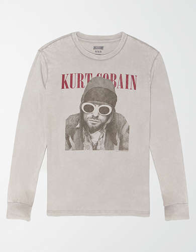 Tailgate Long Sleeve Kurt Cobain Graphic T-Shirt