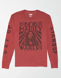 3268864c7ee placeholder image Tailgate Long Sleeve Bob Marley Graphic T-Shirt
