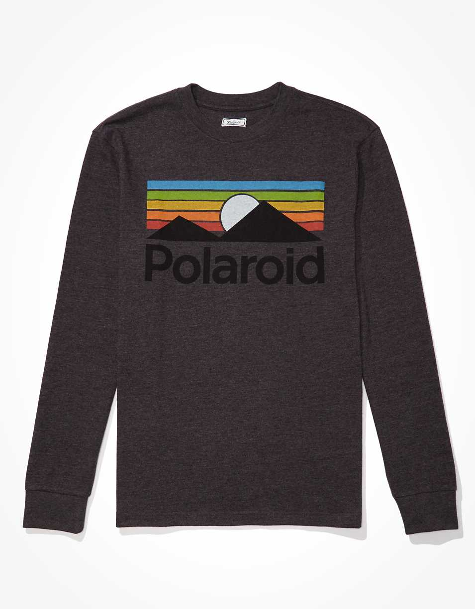 Tailgate Men's Polaroid Long-Sleeve Graphic T-Shirt