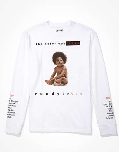 Tailgate Men's Biggie Smalls Long-Sleeve Graphic T-Shirt