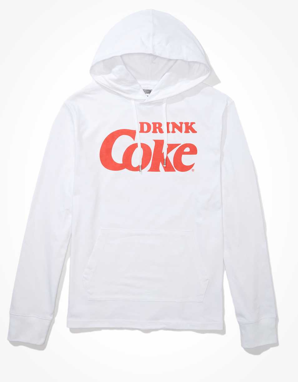 Tailgate Men's Coca Cola Long-Sleeve Graphic Hoodie Tee