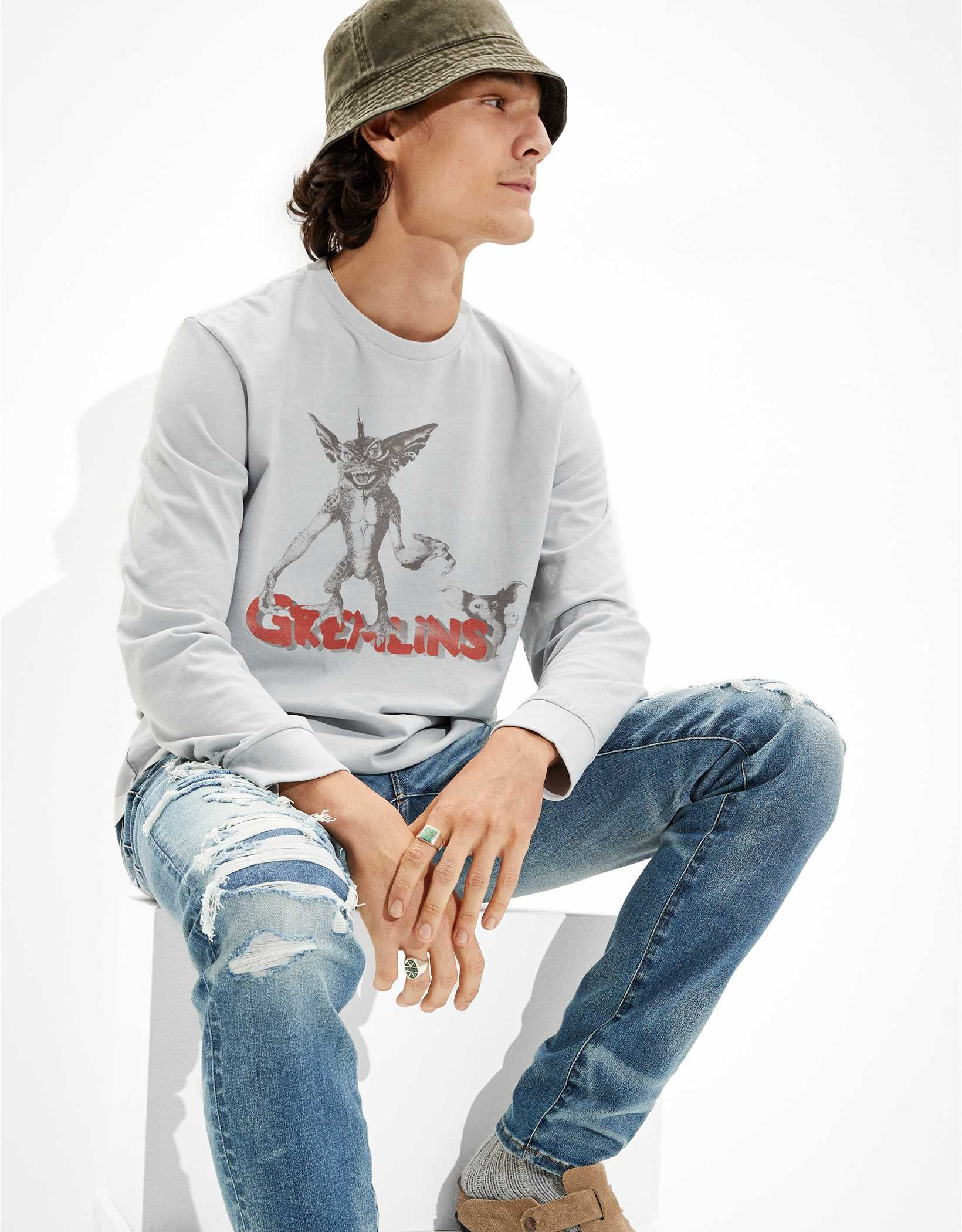 Tailgate Men's Gremlins Long-Sleeve Graphic T-Shirt