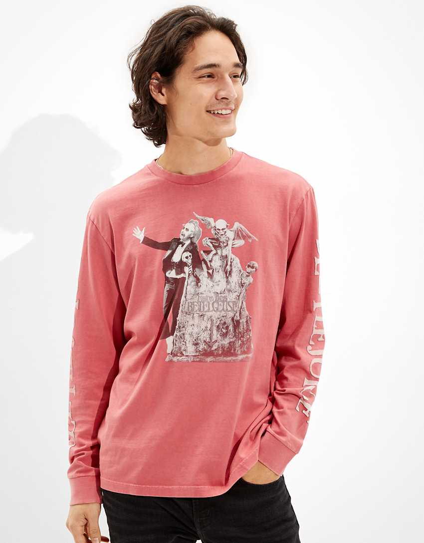 Tailgate Men's Beetlejuice Long-Sleeve Graphic T-Shirt