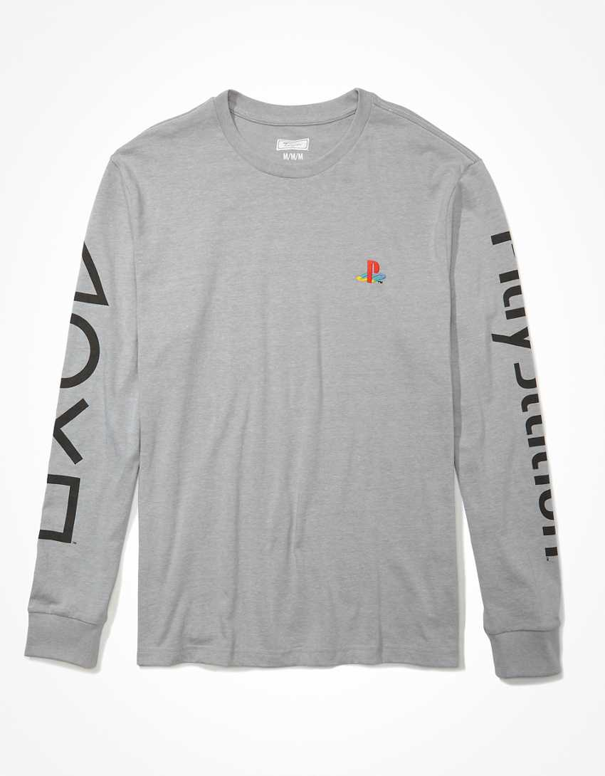 Tailgate Men's PlayStation Long-Sleeve Graphic T-Shirt
