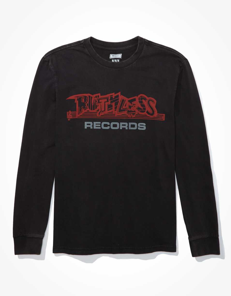 Tailgate Men's Ruthless Records Long Sleeve Graphic T-Shirt