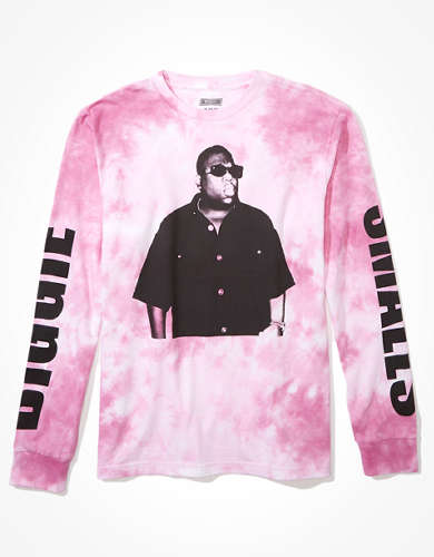 Tailgate Men's Biggie Smalls Long-Sleeve Tie-Dye T-Shirt