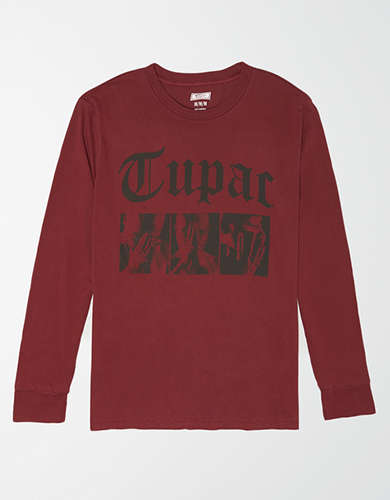 Tailgate Long Sleeve Tupac Graphic T-Shirt