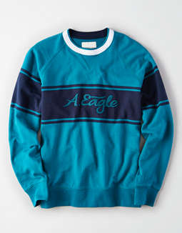 AE Striped Crew Neck Sweatshirt