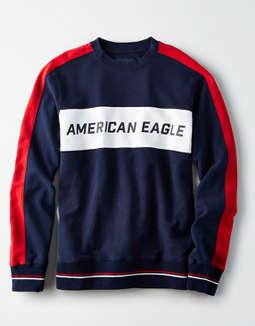 9713f539 placeholder image AE Color Block Fleece Crew Neck Sweatshirt ...