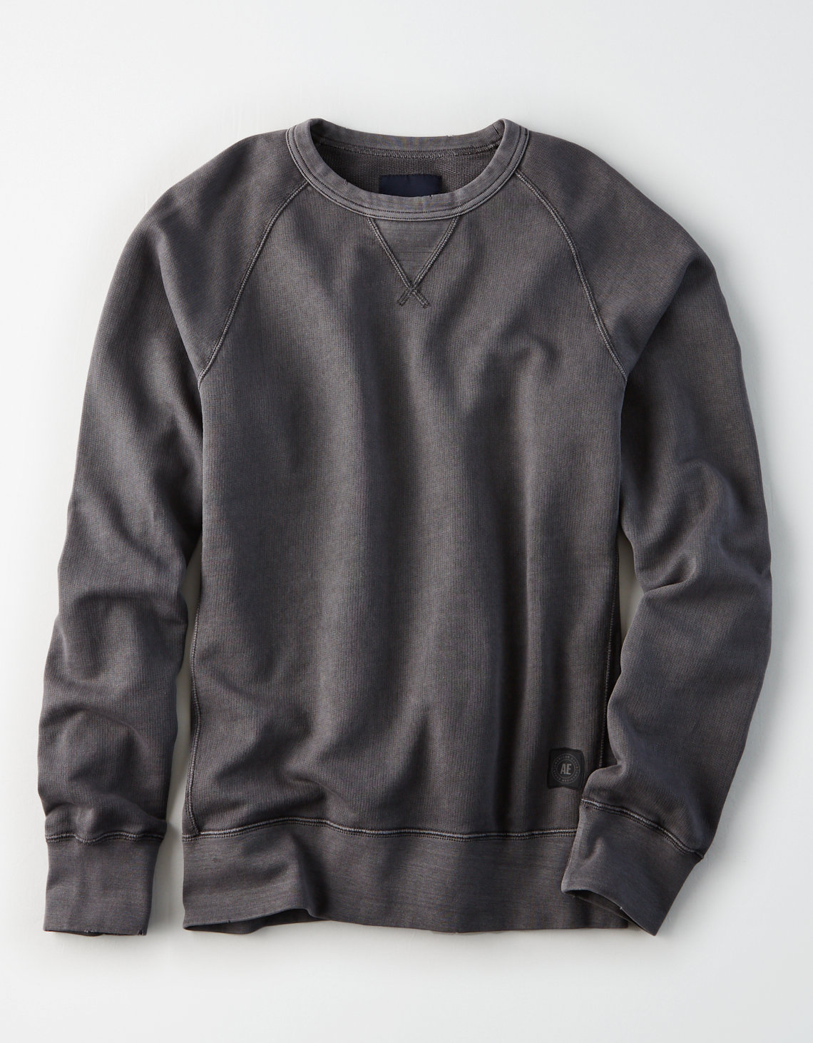 AE Distressed Crew Neck Sweatshirt