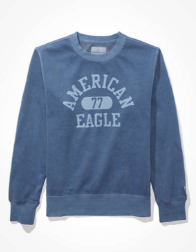 AE Super Soft Fleece Icon Graphic Crew Neck Sweatshirt