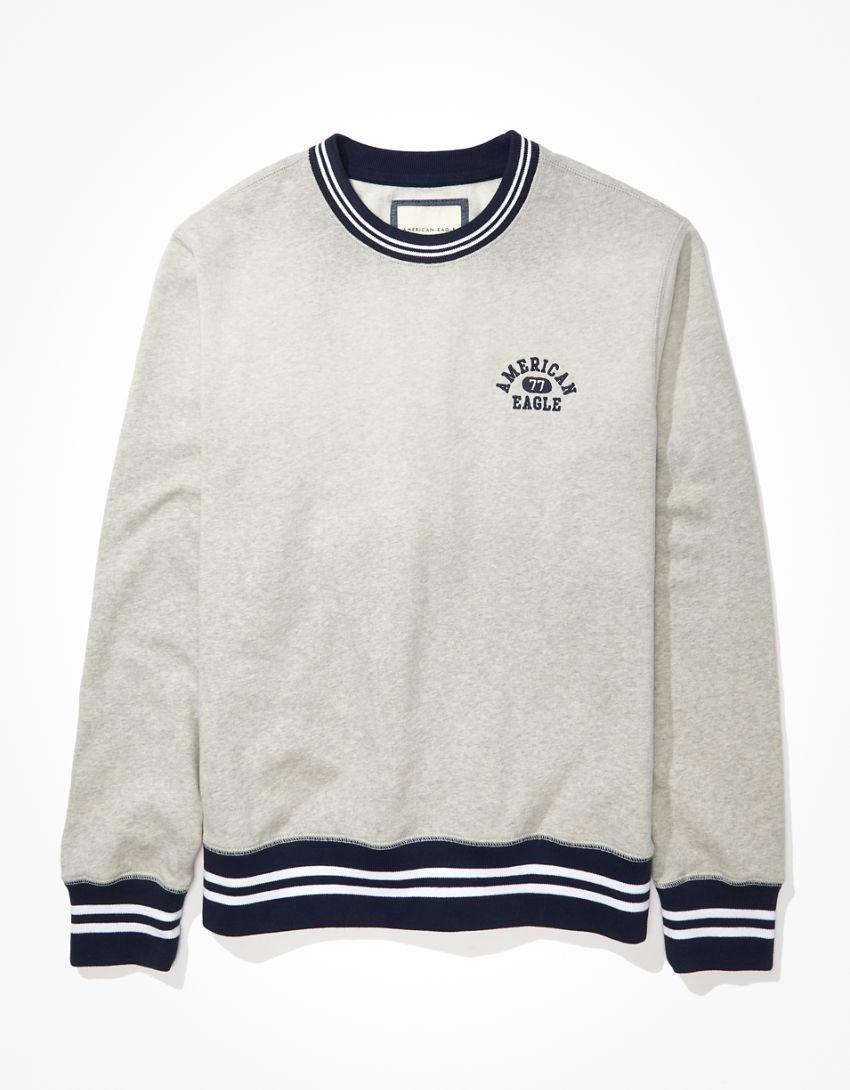 AE Super Soft Fleece Tipped Crew Neck Sweatshirt