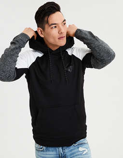 Ae Color Block Raglan Pullover Hoodie by American Eagle Outfitters