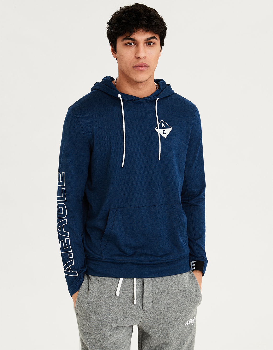 df45a9e4550 AE Graphic Pullover Hoodie Tee. Placeholder image. Product Image