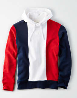 8eb79b0df placeholder image AE Color Block Fleece Pullover Hoodie ...