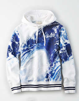 AE All Over Waves Pullover Hoodie