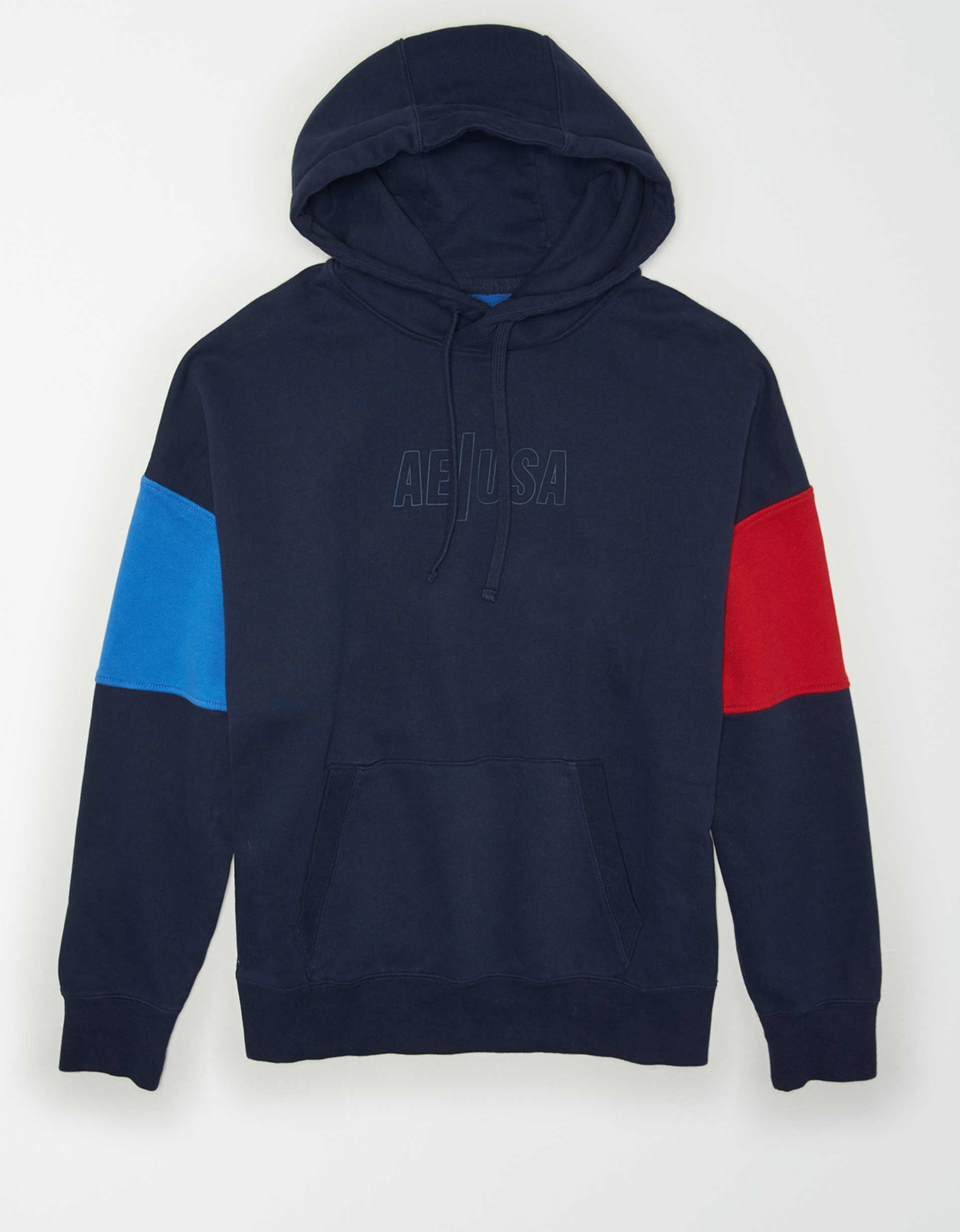 AE Drop-Shoulder Colorblock Hoodie