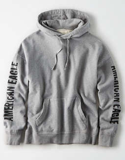 AE Drop Shoulder Graphic Pullover Hoodie