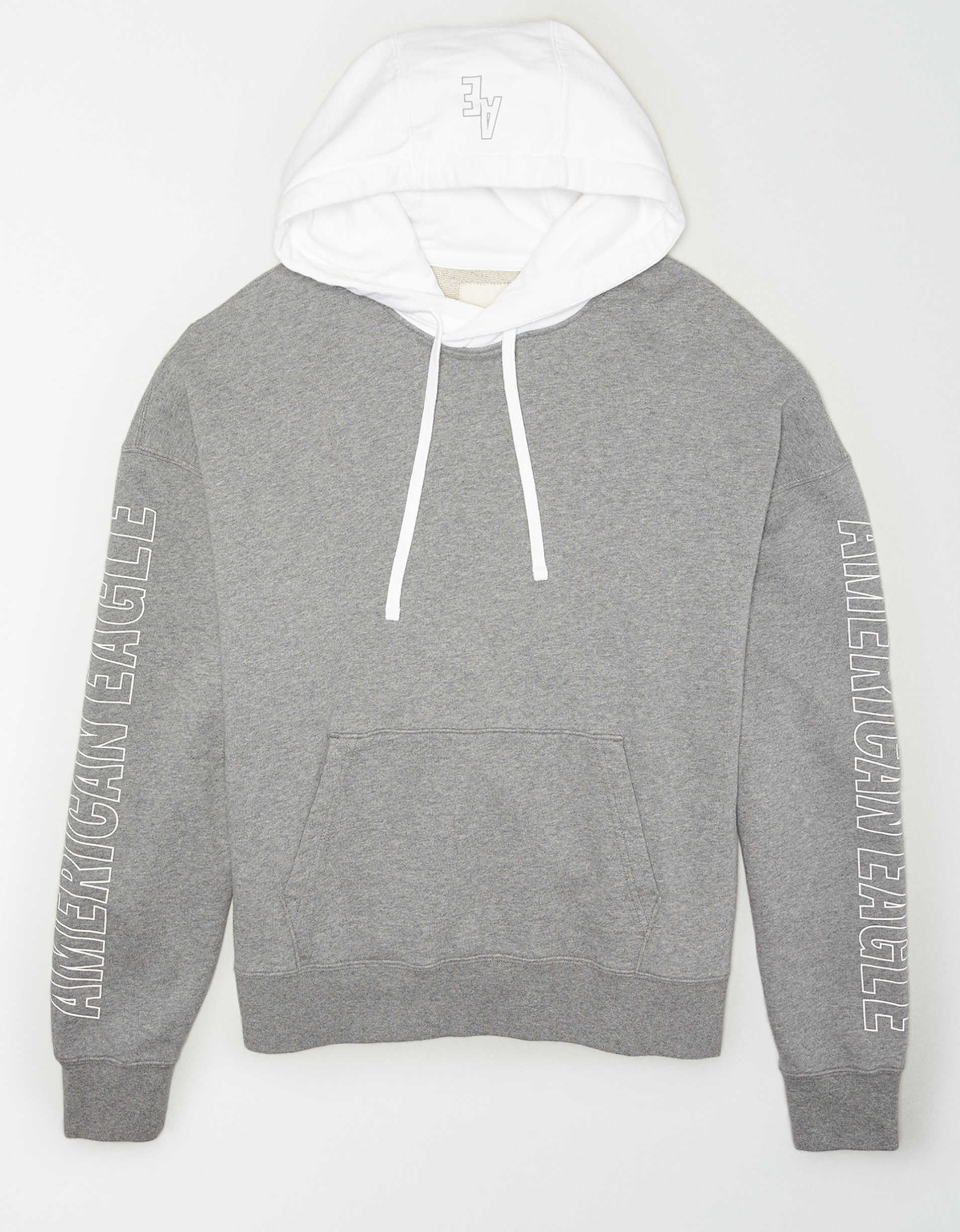 AE Drop-Shoulder Graphic Pullover Hoodie