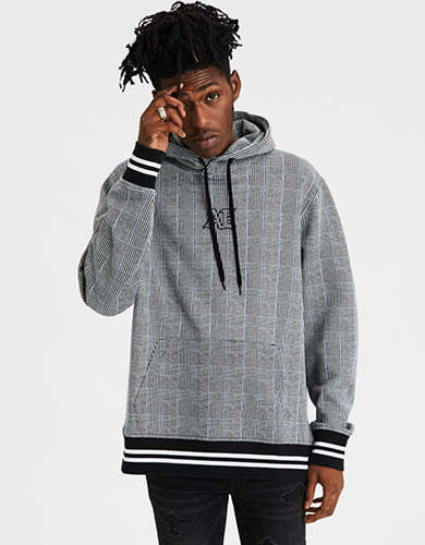 AE Plaid Graphic Pullover Hoodie